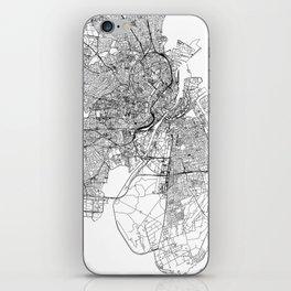 Copenhagen White Map iPhone Skin