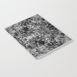 Mirrored Black and White Cityplan Notebook