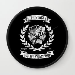 High Stakes Gwent Champion Wall Clock