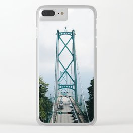 Lions Gate Bridge Clear iPhone Case