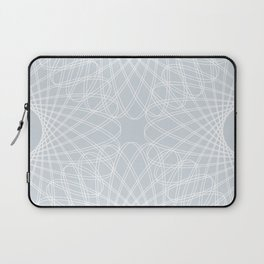 mathematical rotating roses - ice gray Laptop Sleeve