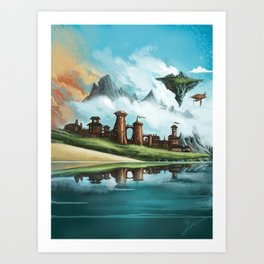 A City of Iron Art Print