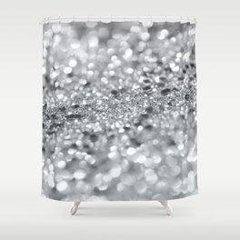 Silver Gray Lady Glitter #1 #shiny #decor #art #society6 Shower Curtain
