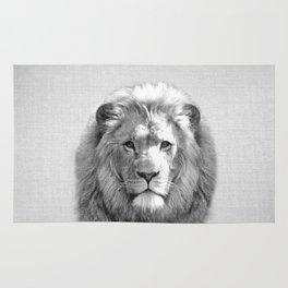 Lion - Black & White Rug