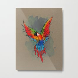 Colors of the Macaw Metal Print