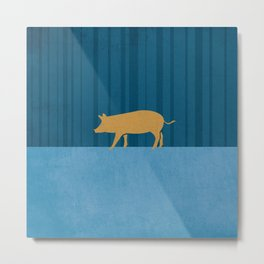 Tamworth Pig Print Metal Print