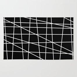 Gossamer. Black and white.1 Rug