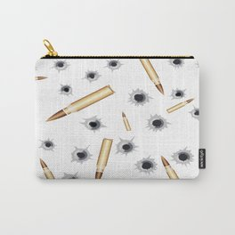 BULLETS N BULLET HOLES Carry-All Pouch
