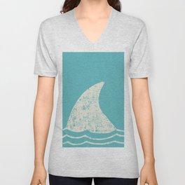 Beach Series Aqua - Shark Animal in the deep See Unisex V-Neck