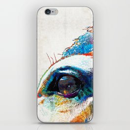Colorful Horse Art - A Gentle Sol - Sharon Cummings iPhone Skin