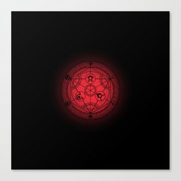 transmutation halftone circle Canvas Print