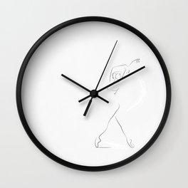 'Reminisce', Dancer Line Drawing Wall Clock