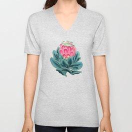 Protea flower garden Unisex V-Neck