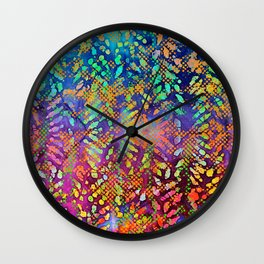 Sunset Batik Wall Clock