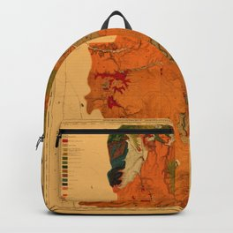 Map Of Yellowstone 1878 Backpack