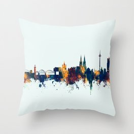 Cologne Germany Skyline Throw Pillow