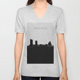 City Skylines: Grand Rapids Unisex V-Neck