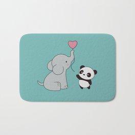 Kawaii Cute Elephant and Panda Bath Mat