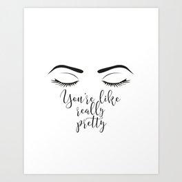 makeup print art prints society6