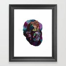 Skinless Turkey Face Framed Art Print