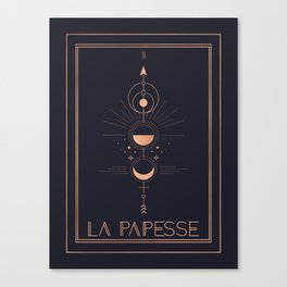La Papesse or The High Priestess Tarot Canvas Print