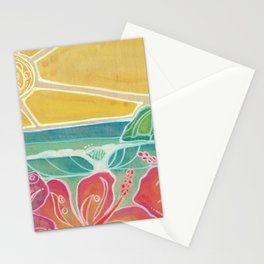 Triple Hibiscus Surf Art by Lauren Tannehill Art Stationery Cards