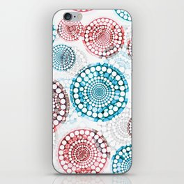 3D Medallions Red Blue iPhone Skin