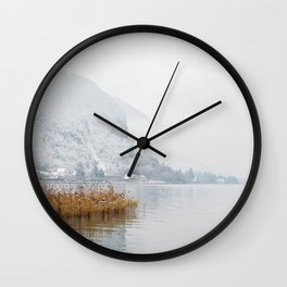 Annecy under the snow - French Alps Wall Clock
