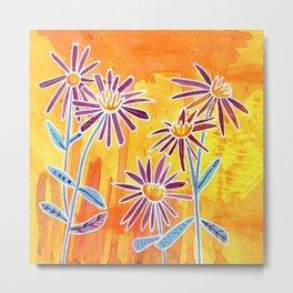 Asters Wildflowers Metal Print
