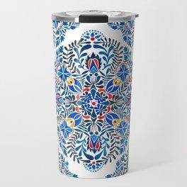 Blue-red mandala Travel Mug