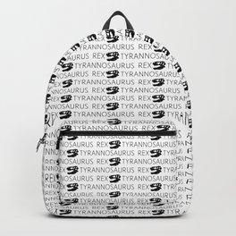 T-Rex Pattern (Black & White) Backpack