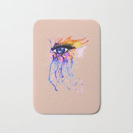 Flamy Watercolor Eye Bath Mat