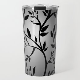 Black Trees on Gray Travel Mug