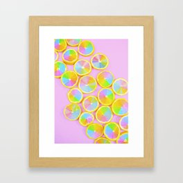 Unicorn Fruit Framed Art Print