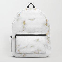 Fine Gold Marble Natural Stone Gold Metallic Veining White Quartz Backpack