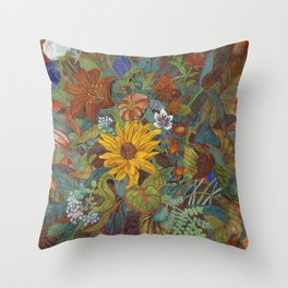 flower 2【Japanese painting】 Throw Pillow