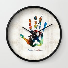 Rainbow Bridge Art - Never Forgotten - By Sharon Cummings Wall Clock