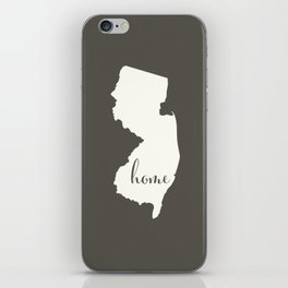 New Jersey is Home - White on Charcoal iPhone Skin