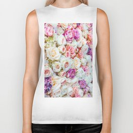 Colorful Roses Biker Tank