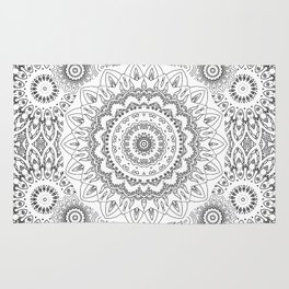 MOONCHILD MANDALA BLACK AND WHITE Rug