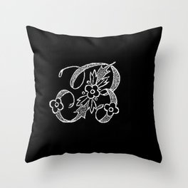 B Monogram Throw Pillow