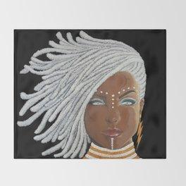 African Goddess Throw Blanket