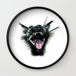 Black  Scream Wall Clock