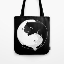 Yin Yang Cats Tote Bag