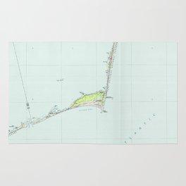 Cape Hatteras National Seashore Map (1985) Rug