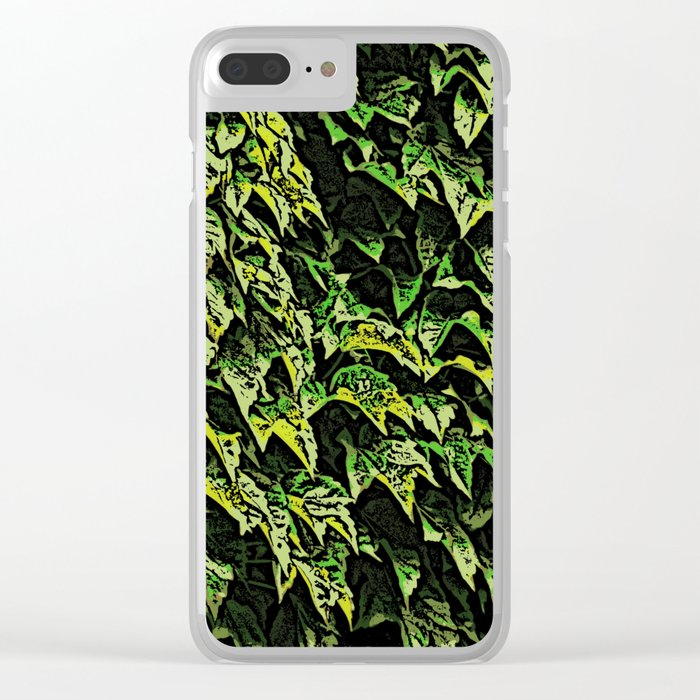 Ivy Woodcut Clear iPhone Case