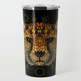 Cheetah Face Travel Mug