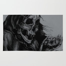 Skeleton Holding Diamond Rug