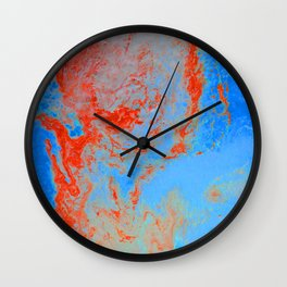 Psycho - Ring of Fire Acrylic Paint Flow Art by annmariescreations Wall Clock
