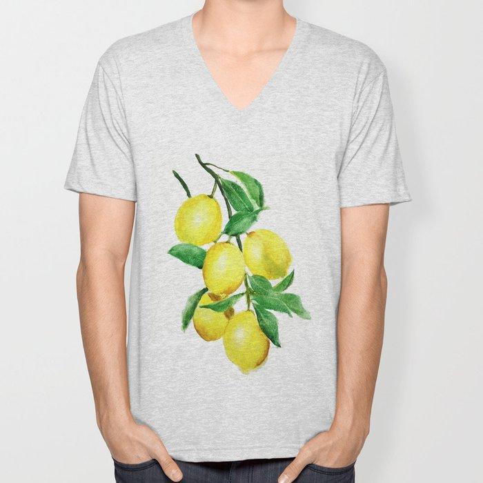 lemon Unisex V-Neck
